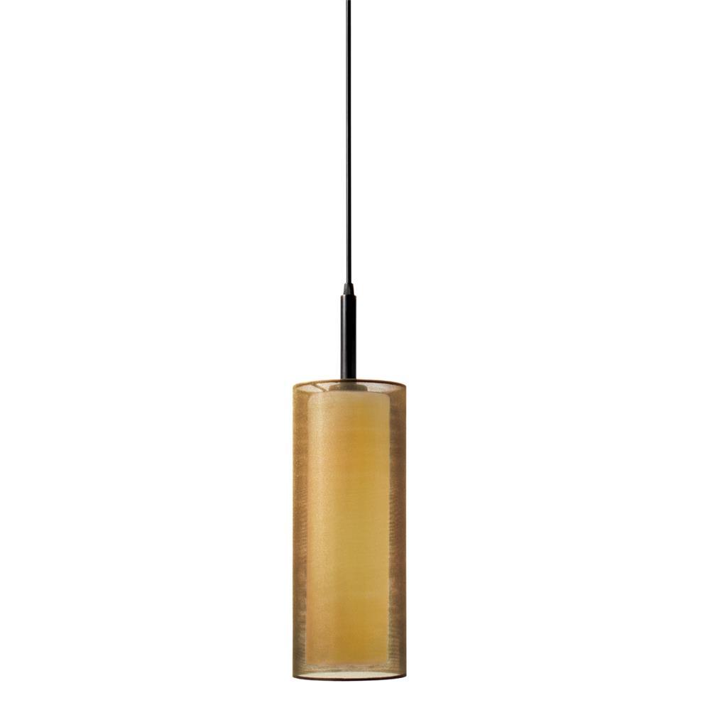 "Sonneman 6006.51F Puri 5"" Cylinder Pendant in Black Brass"