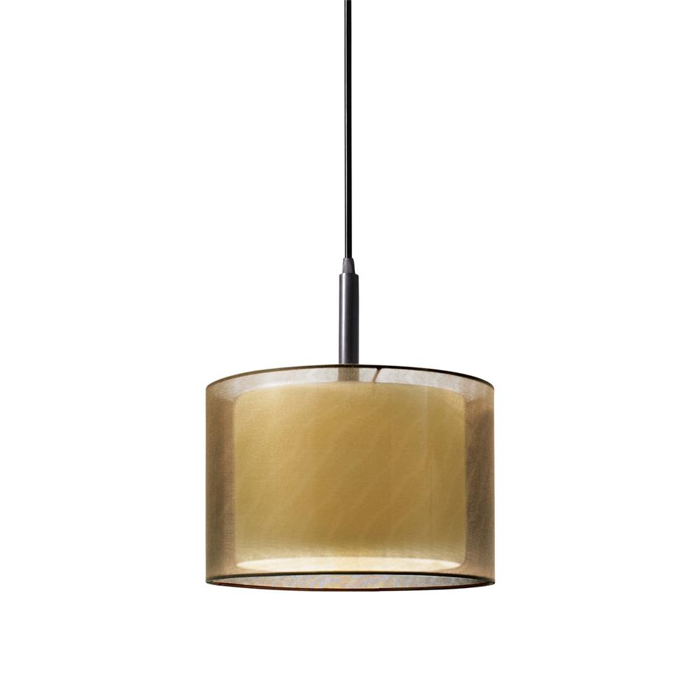 "Sonneman 6008.51F Puri 10"" Pendant in Black Brass"