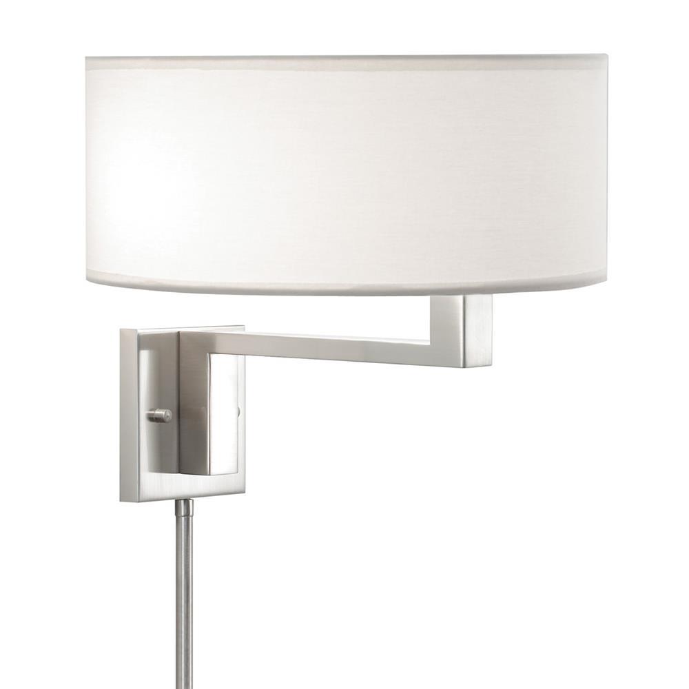 Sonneman 6089.13 Quadratto Swing Wall Lamp in Satin Nickel