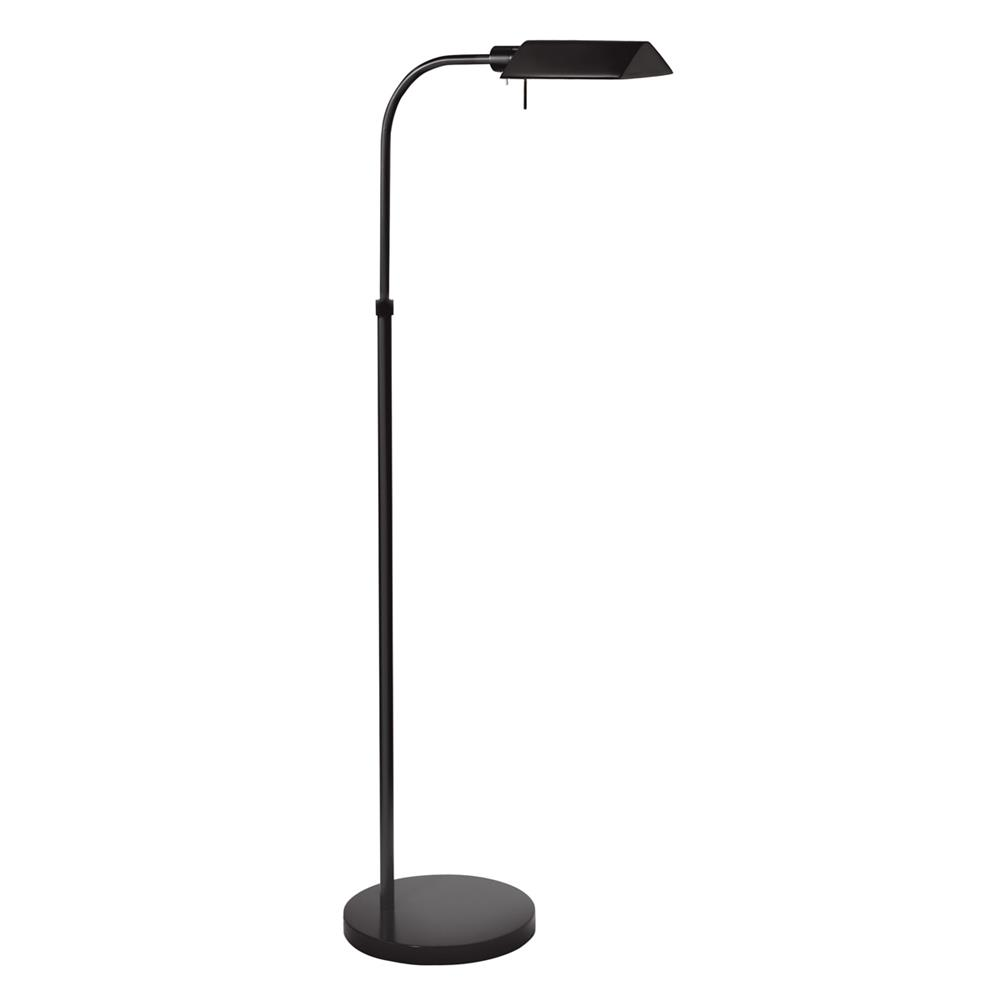 Sonneman 7005.25 Tenda Pharmacy Floor Lamp in Satin Black