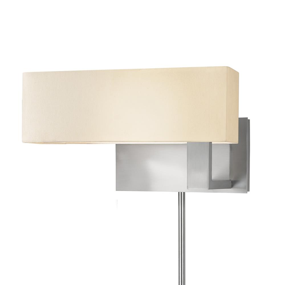 Sonneman 7026.13F Mitra Compact Swing Right Wall Lamp in Satin Nickel