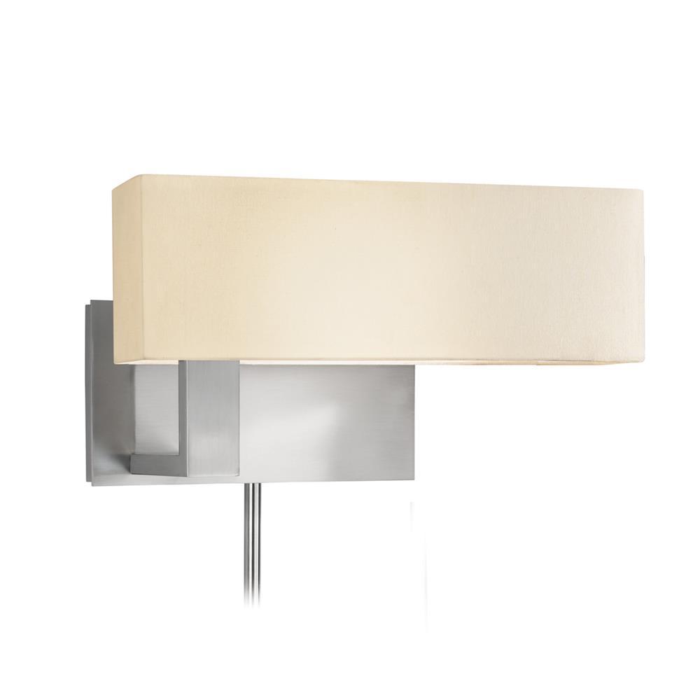 Sonneman 7027.13F Mitra Compact Swing Left Wall Lamp in Satin Nickel