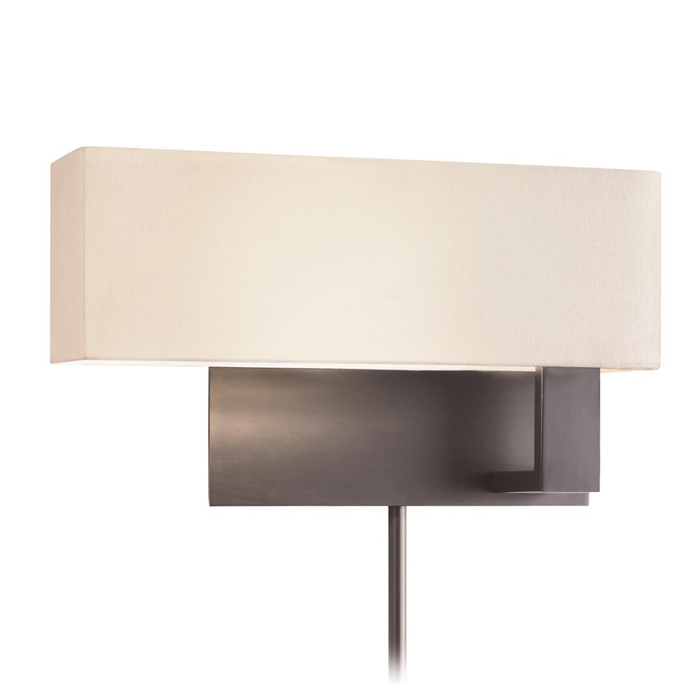 Sonneman 7027.51F Mitra Compact Swing Left Wall Lamp in Black Brass