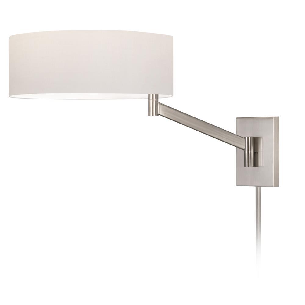 Sonneman 7080.13 Perch Swing Arm Wall Lamp in Satin Nickel