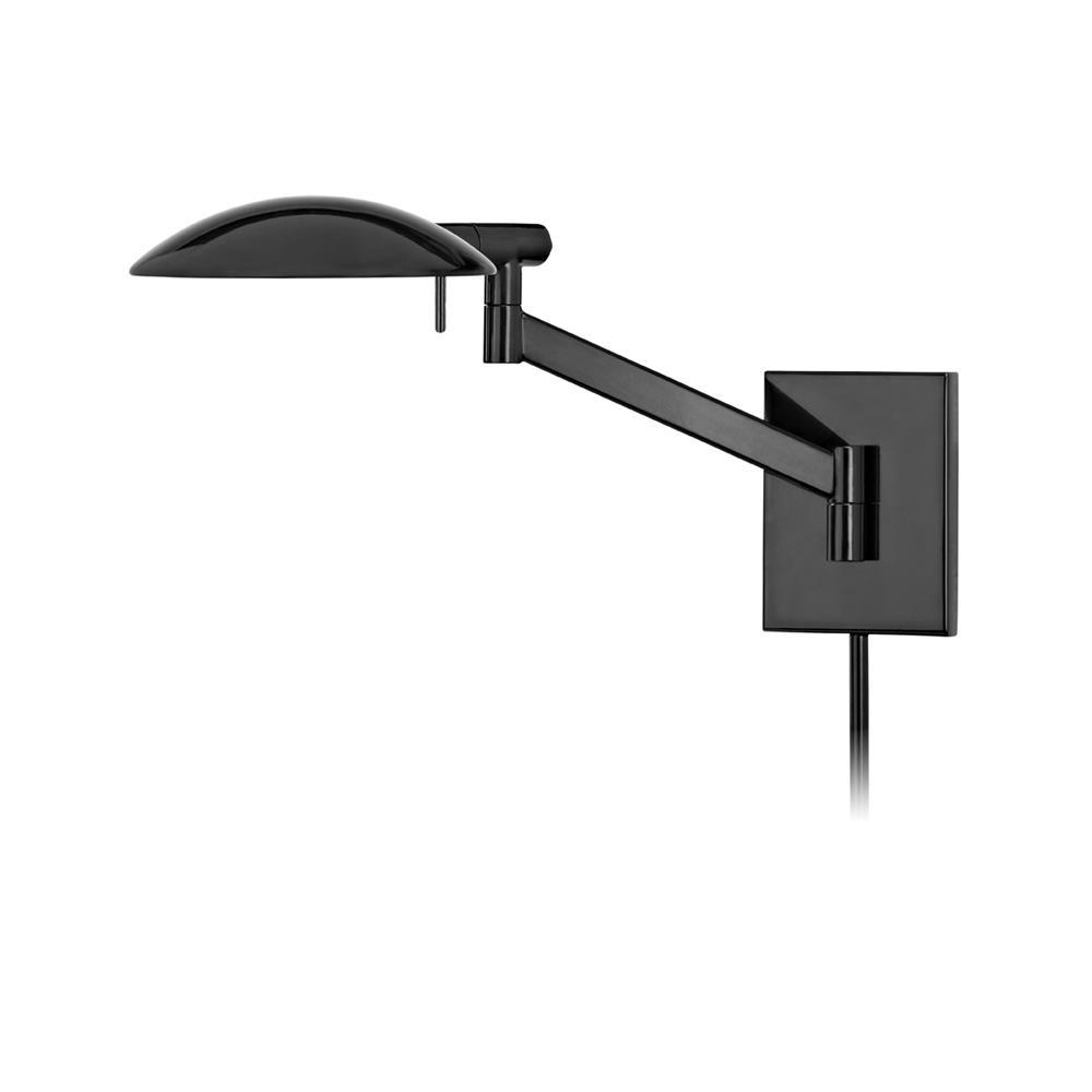 Sonneman 7085.62 Perch Pharmacy Swing Arm Wall Lamp in Gloss Black