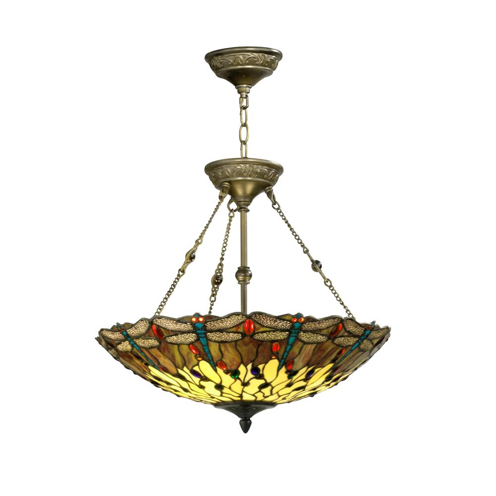Springdale Lighting FTH10011 Corrall Dragonfly Hanging Fixture