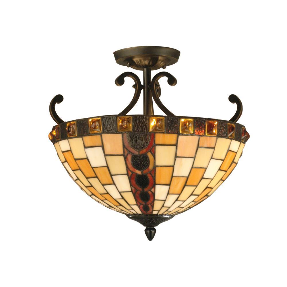 Springdale Lighting FTS10017 Baroque Semi Flush Mount