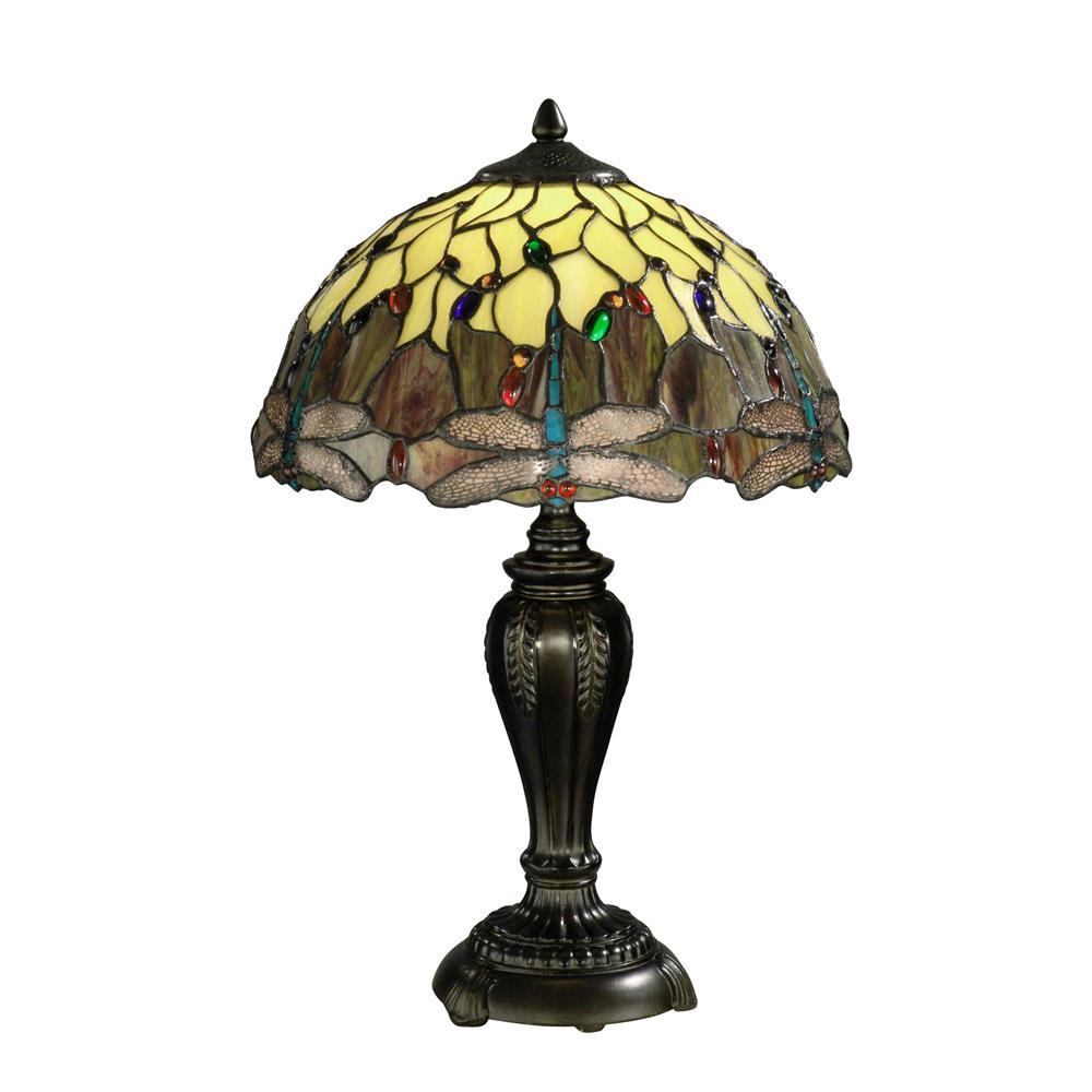 Springdale Lighting FTT10015 Corrall Dragonfly Table Lamp