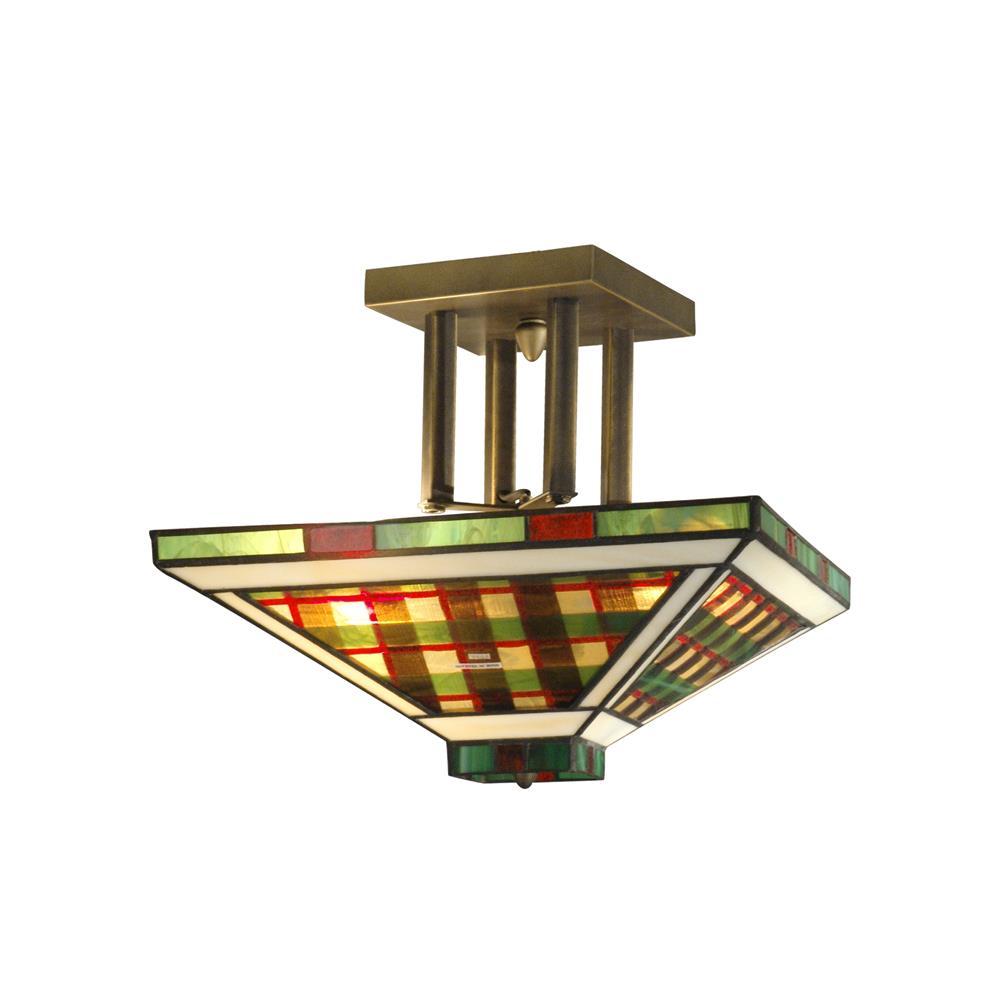 Springdale Lighting STH11023 Green/Amber Flush Mount