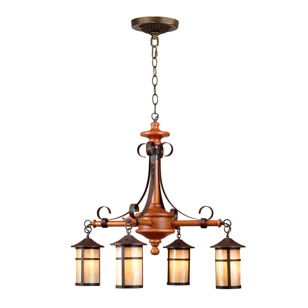 Springdale Lighting STH11024 Round Lantern 4-Light Hanging Fixture