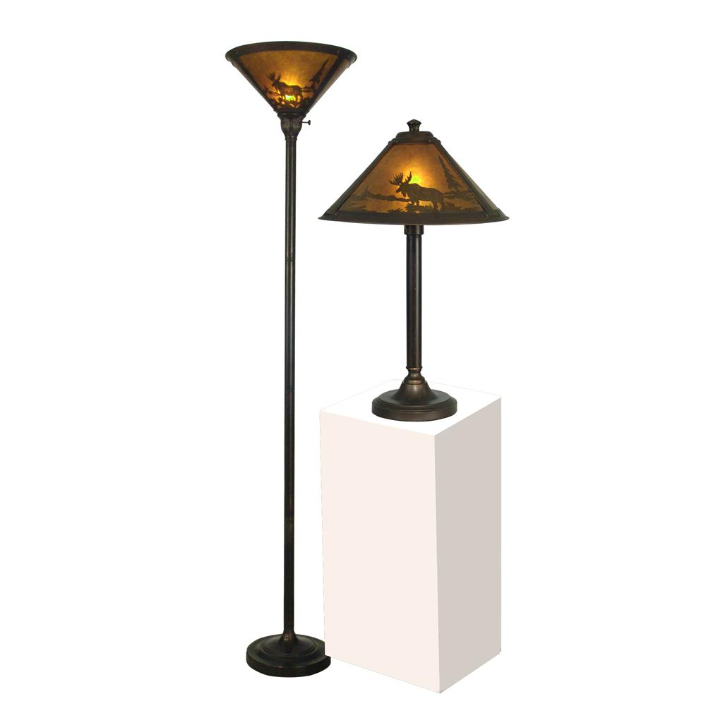 Springdale Lighting TC80485 Wilderness Table And Floor Lamp Set