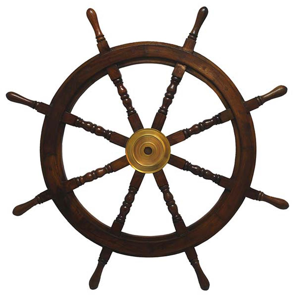 "St. Croix A021 KINDWER Wooden Ships Wheel 36"" in Brown"