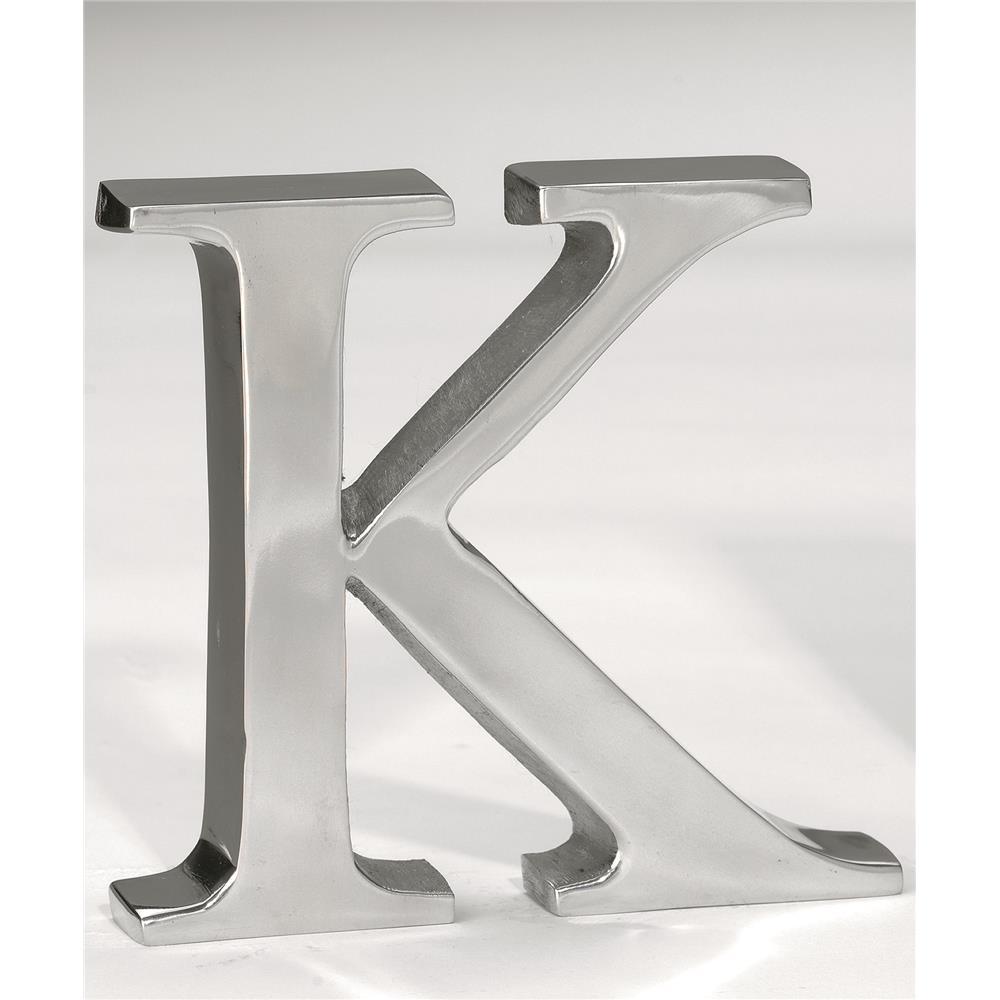 "St. Croix A1011 KINDWER 6"" Aluminum Letter K in Silver"