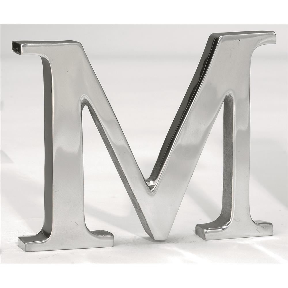 "St. Croix A1013 KINDWER 6"" Aluminum Letter M in Silver"