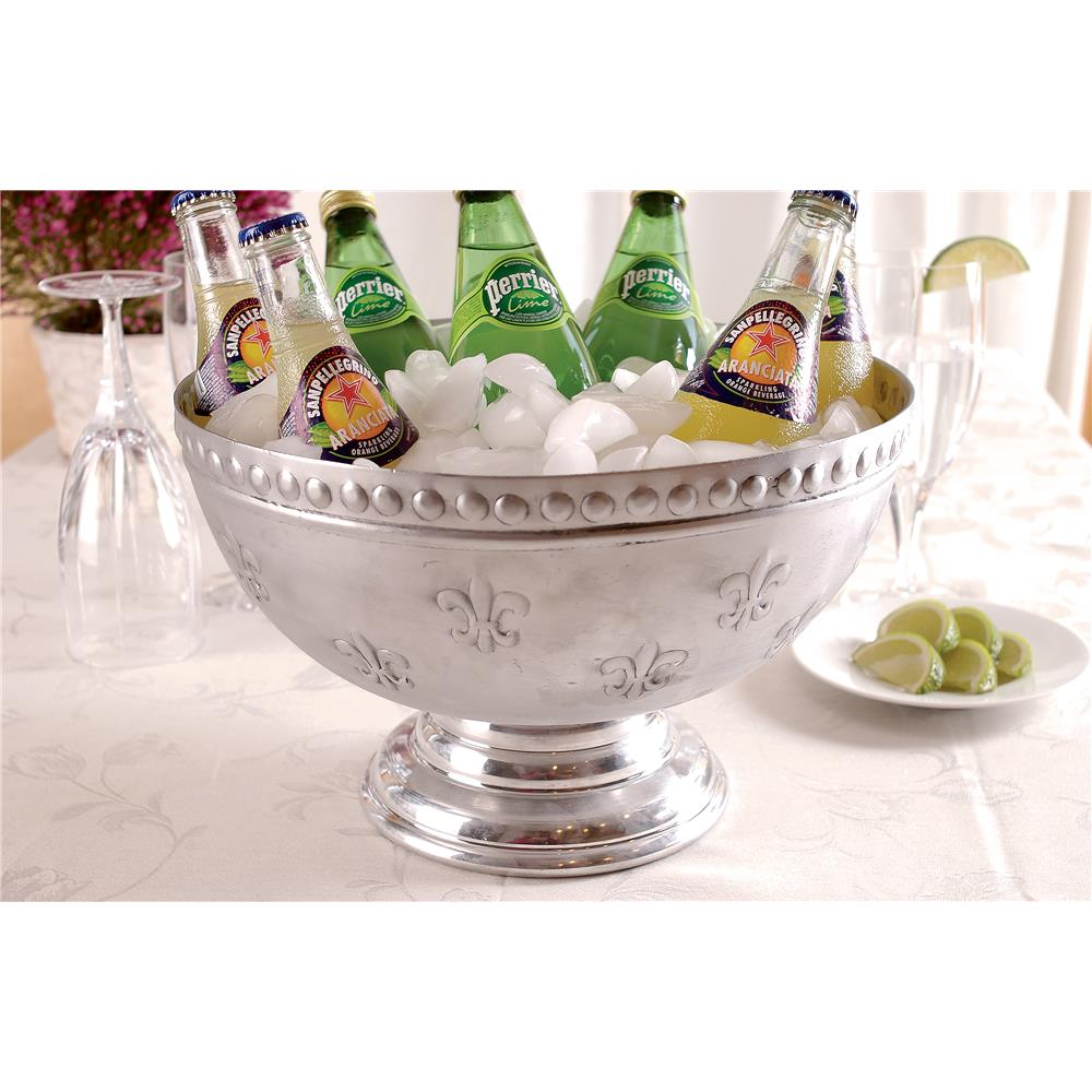 St. Croix A1146 KINDWER Fleur-de-lis Aluminum Punchbowl in Silver