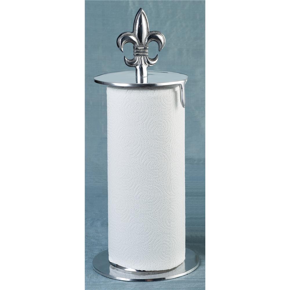 """St. Croix A1201 KINDWER 16"""" Fleur de Lis Paper Towel Holder in Silver"""