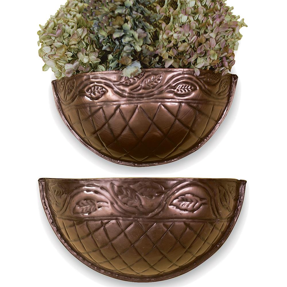 St. Croix A1255 KINDWER Set of 2 Grecian Wall Planters  in Copper