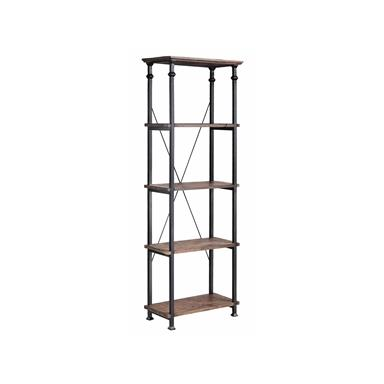 Steinworld 57250 Poplar Metal Étagère / Bookcase Reclaimed