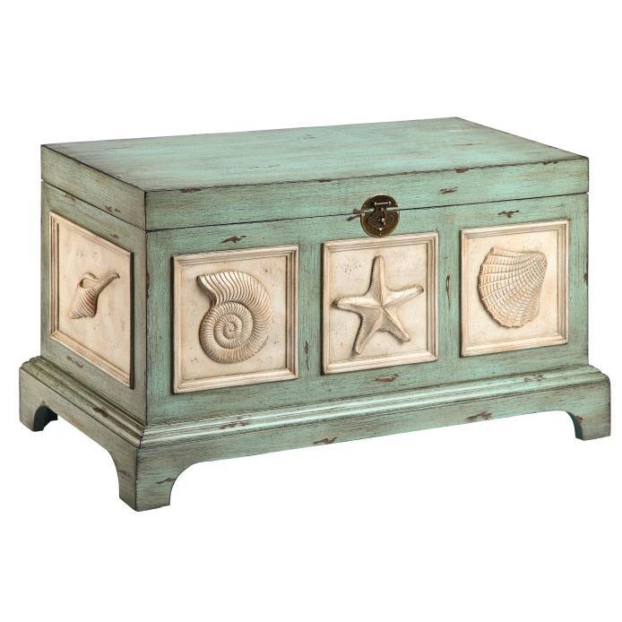 Steinworld 13401 Harold seashell storage trunk
