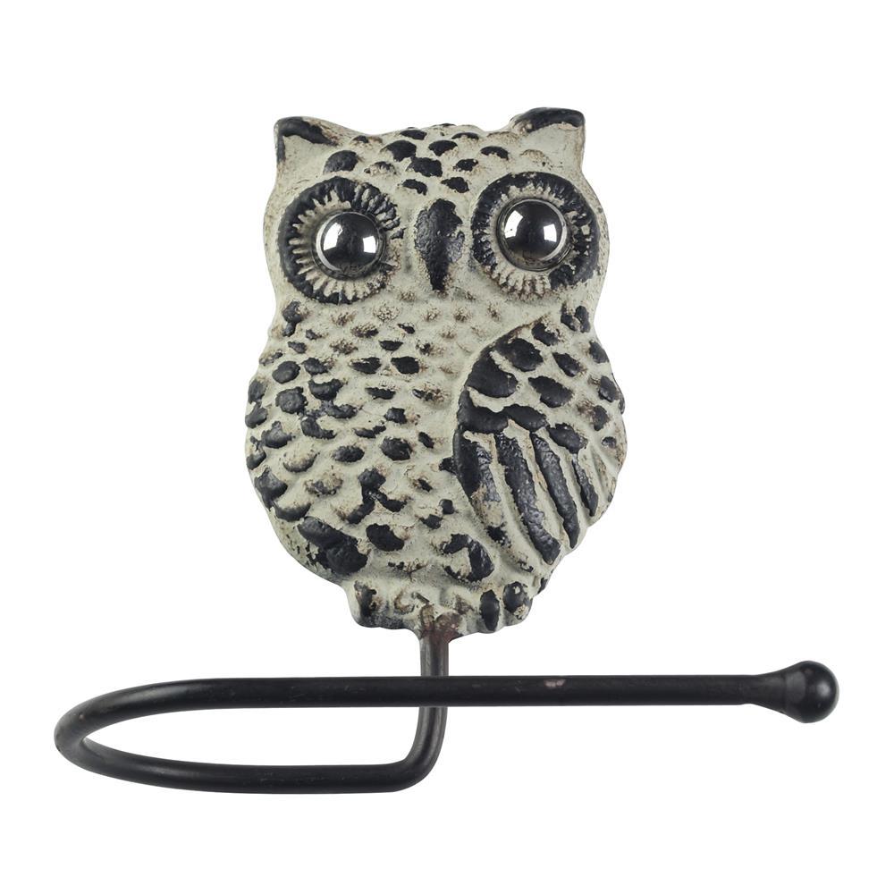 Sterling Industries 129-1054 Owl Hook In Grappa Gray
