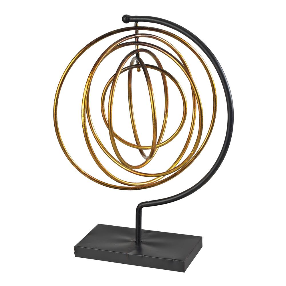 Sterling Industries 129-1063 Metal Accessory In Gold Leaf / Black
