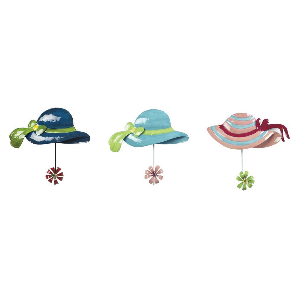 Sterling Industries 129-1071 Sun Hat Hook In Impact Royal Blue / Teal / Pink