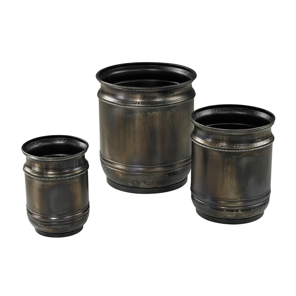 Sterling Industries 26-8669/S3 Set Of 3 Oxidised Finish Planters
