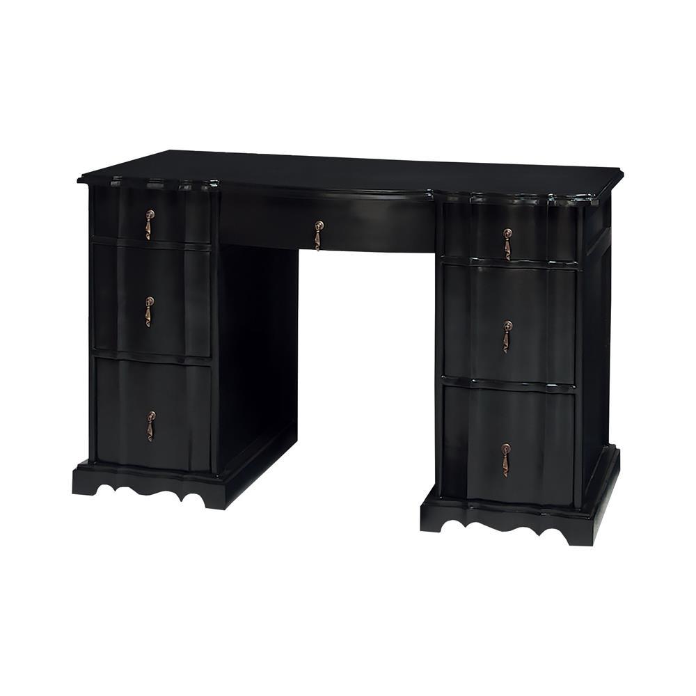 Sterling Industries 7011-461 Loretta Desk In Grain De Bois Noir