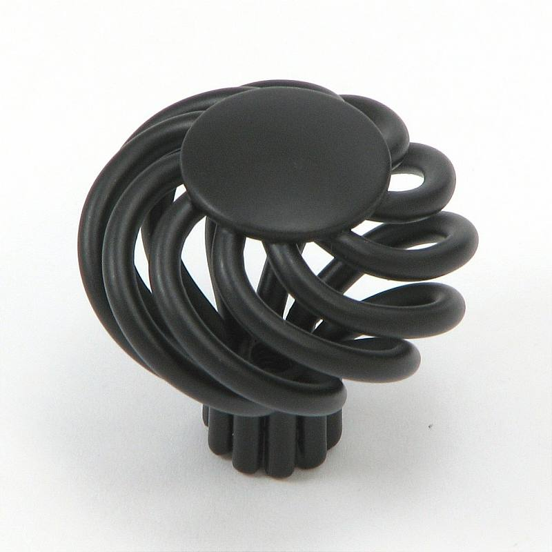 Stone Mill Hardware CP38-MB The Matte Black Cornwall Birdcage Cabinet Knob in Matte Black