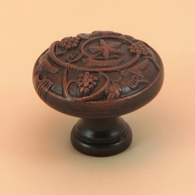 Stone Mill Hardware CP3079-OB Oil Rubbed Bronze Vineyard Harvest Cabinet Hardware Knob in Oil-Rubbed Bronze
