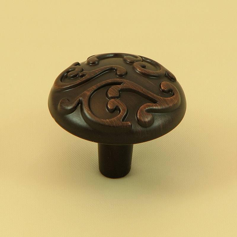 Stone Mill Hardware CP82460H-OB Oil Rubbed Bronze Ivy Cabinet Knob in Oil-Rubbed Bronze
