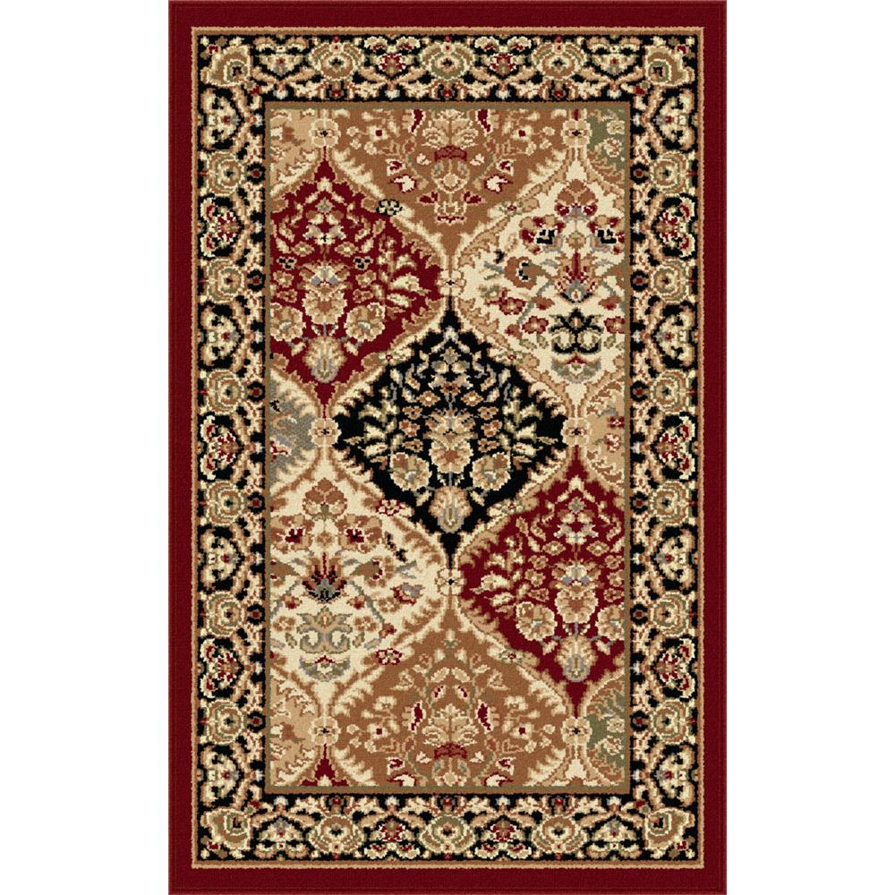 Tayse 4770  Red  2x3 Sensation Princeton Red 2 ft. x 3 ft. Traditional Area Rug