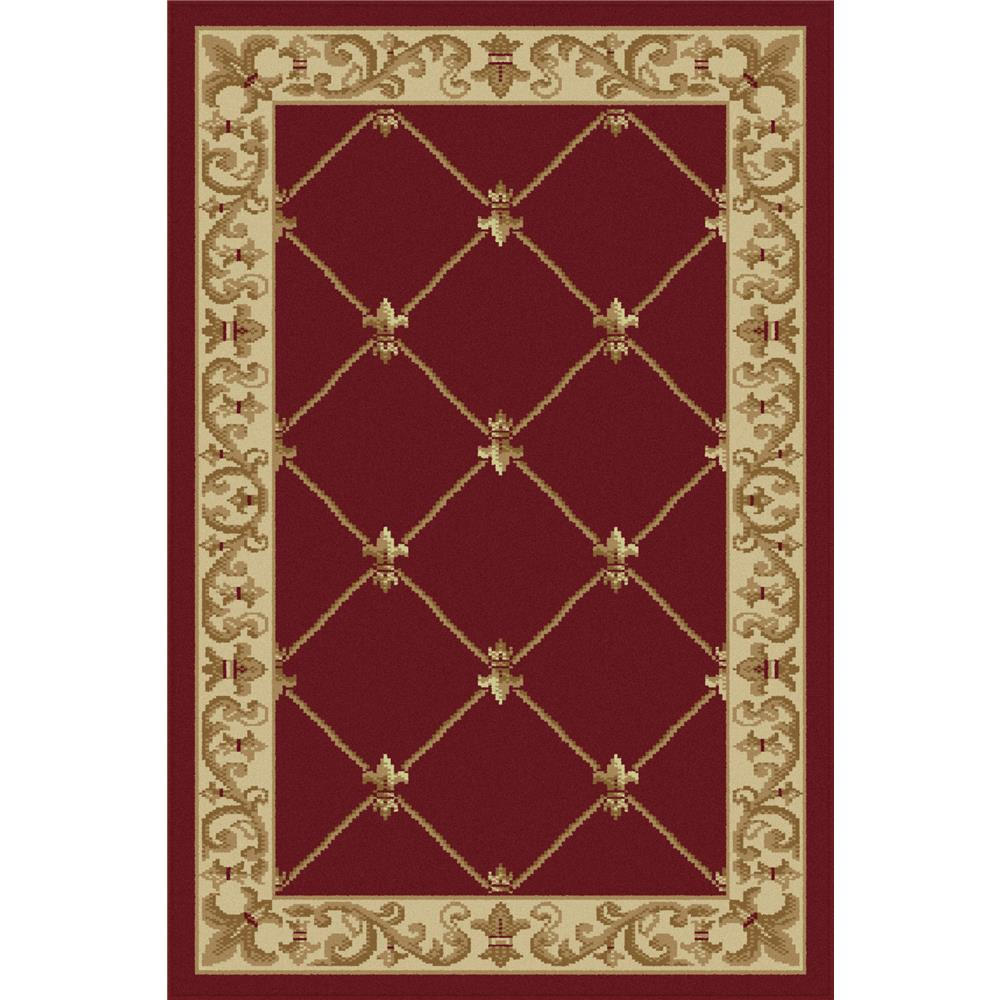 Tayse 4880  Red  2x3 Sensation Orleans Red 2 ft. x 3 ft. Traditional Area Rug