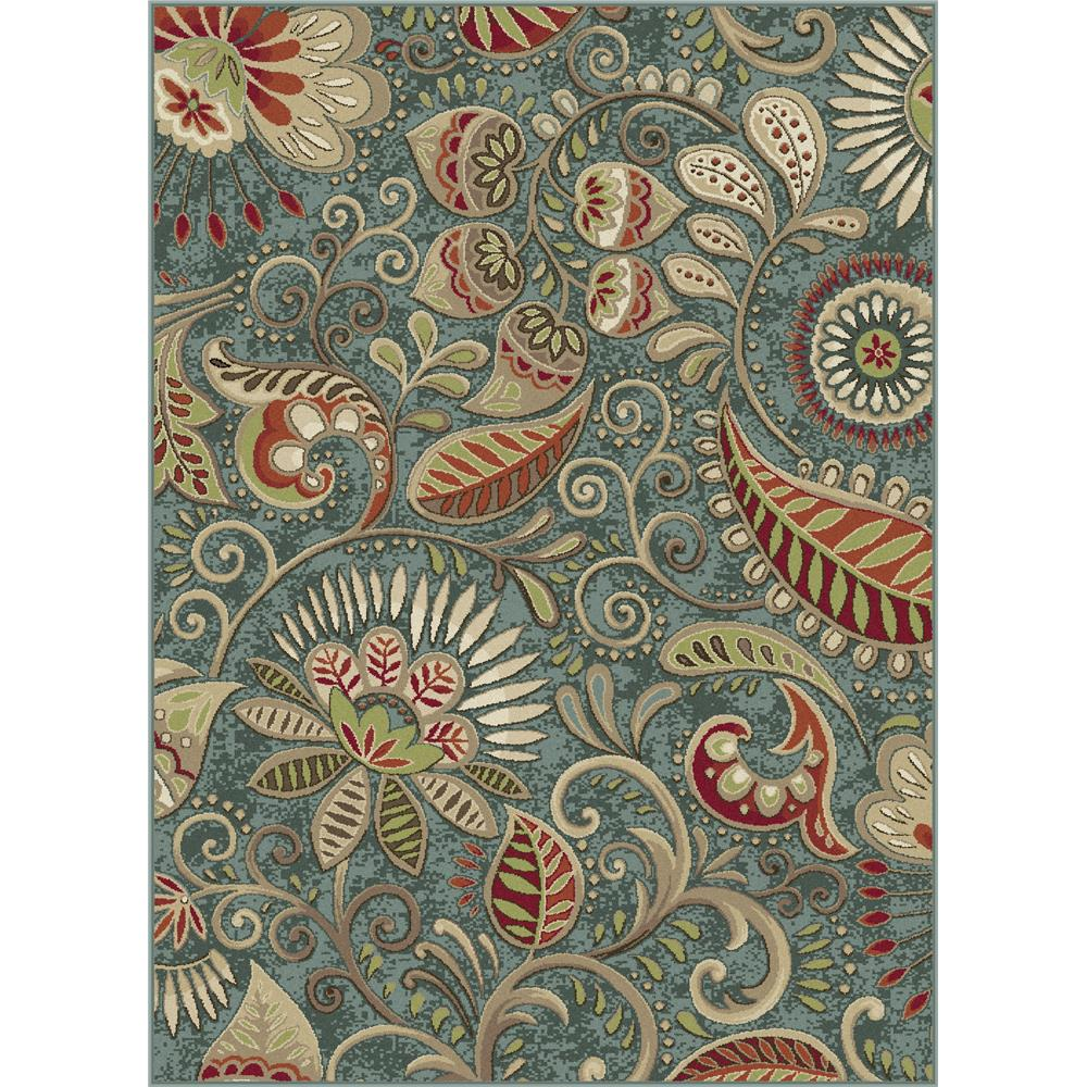 Tayse CPR1009 2x3 Capri Giselle Blue 2 ft. x 3 ft. Transitional Area Rug