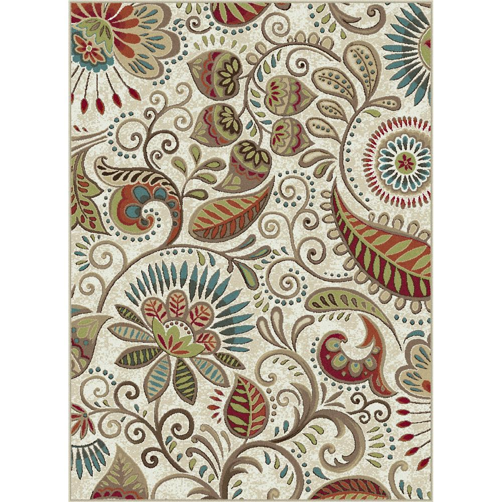 Tayse CPR1011 2x3 Capri Giselle Ivory 2 ft. x 3 ft. Transitional Area Rug