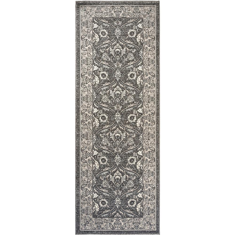 Tayse Kensington KNS1009 Gray 2 ft. 7 in. x 7 ft. 3 in. Traditional Area Rug