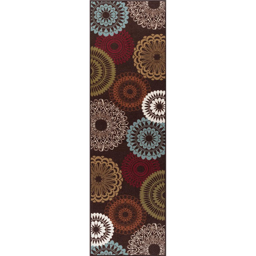 Tayse  MJS1508 2x8 Brown Transitional Area Rug, 2
