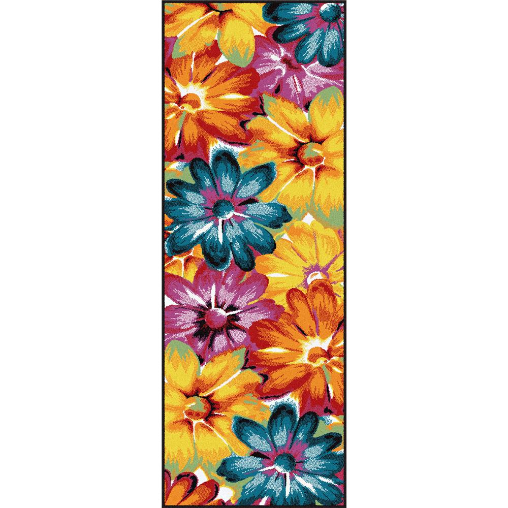 Tayse SMP1005  Multi  3x8 Symphony Zinnia Multi 2 ft. 7 in. x 7 ft. 3 in. Contemporary Area Rug