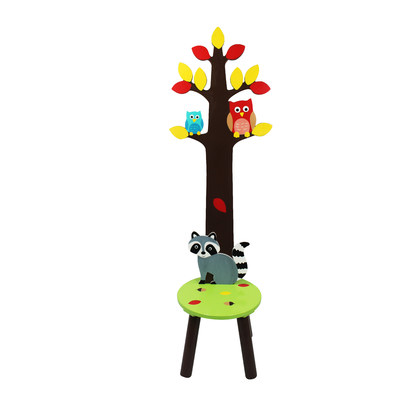 Fantasy Fields by Teamson TD-11701A Enchanted Woodland Stool with Coat Rack