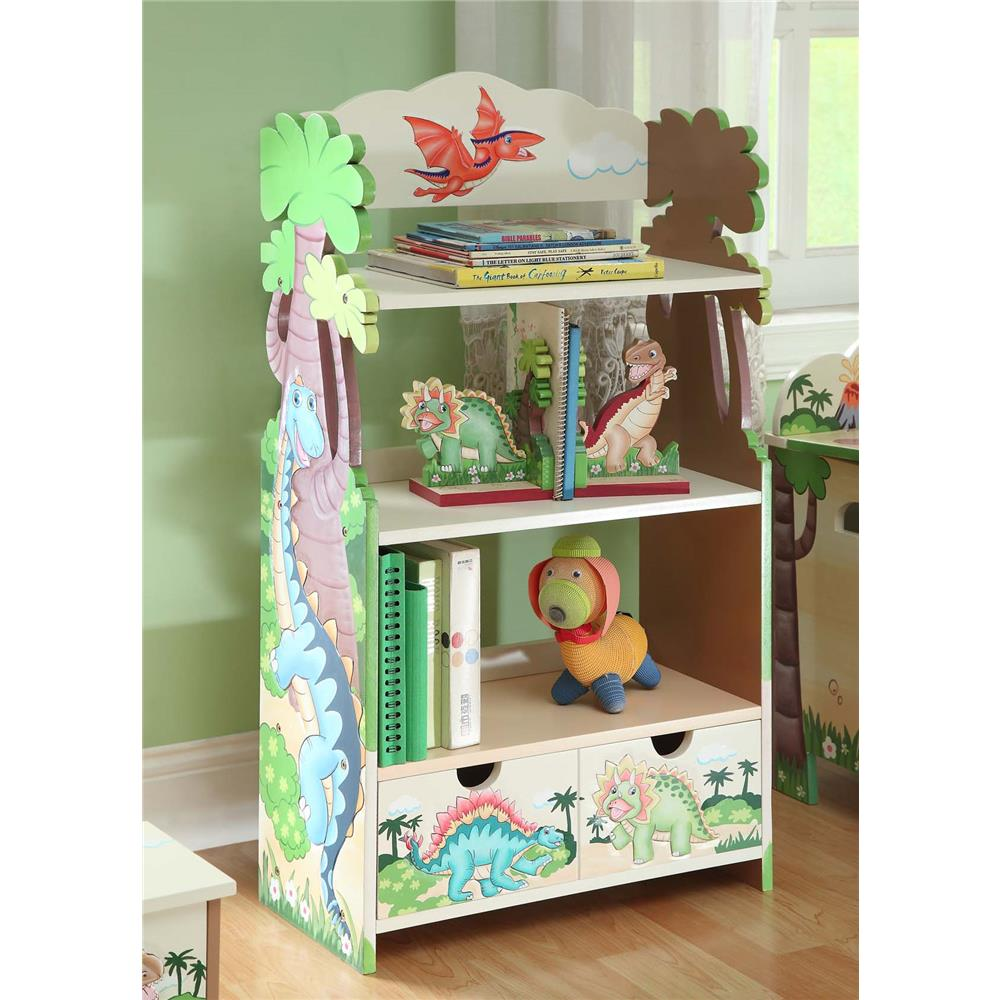 Fantasy Fields by Teamson TD-0069A Dinosaur Kingdom Bookshelf