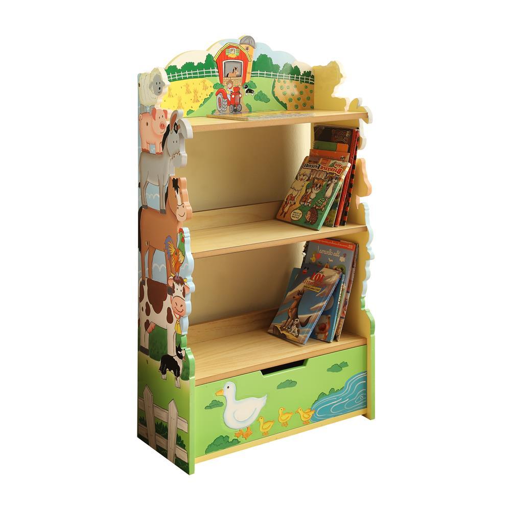 Fantasy Fields by Teamson TD-11329A Happy Farm Animals Bookshelf