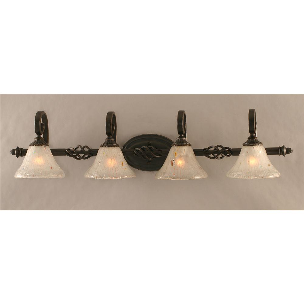 Vanity Light Bar Crystal : 164-DG-751 - Toltec Lighting 164-DG-751 Elegante 3 Light Bath Bar Shown Dark Granite Finish 4 ...
