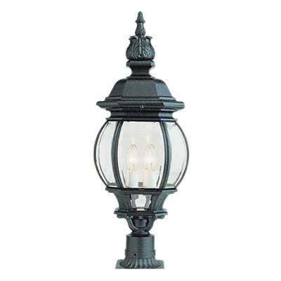 Trans Globe Lighting 4062 BK 4 Light Post Lantern in Black