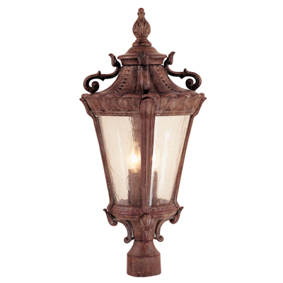 Trans Globe Lighting 4842 PA 4 Light Post Lantern in Patina