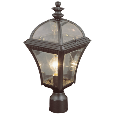 Trans Globe Lighting 5085 BK 1 Light Post Lantern in Black
