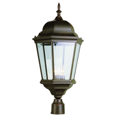 Trans Globe Lighting 51001 RT 3 Light Post Lantern in Rust