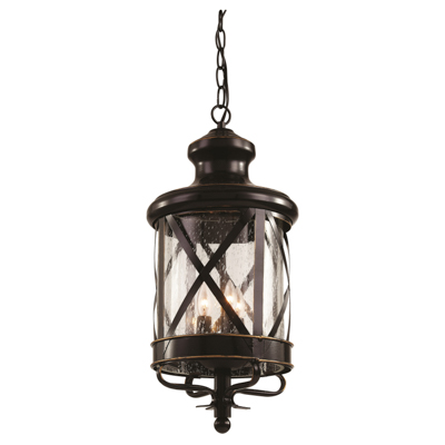 Trans Globe Lighting 5126 ROB 4 Light Hanging Lantern in Rubbed Oil Bronze