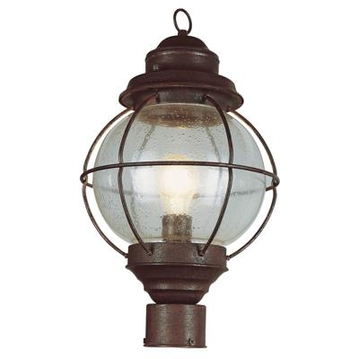 Trans Globe Lighting 69902 RBZ 1 Light Post Lantern in Rustic Bronze