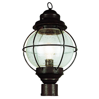 Trans Globe Lighting 69905 RBZ 1 Light Post Lantern in Rustic Bronze