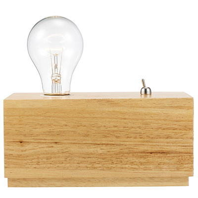 "Trans Globe Lighting RTL-8954 Larsen 8"" Indoor Raw Wood Industrial Desk Lamp"